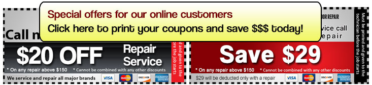 Our services coupon